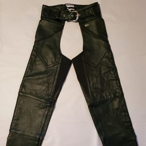 Harley Davidson Black Leather Chaps